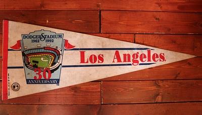 ドジャースペナント ドジャーススタジアム USED ヴィンテージペナント アメリカ雑貨屋 サンブリッヂ アメリカン通販