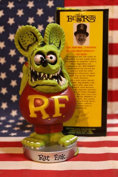 ラットフィンクボビングドール ボビングヘッド フィギュア RATFINK ゆらゆら揺れる アメリカ雑貨屋 サンブリッヂ