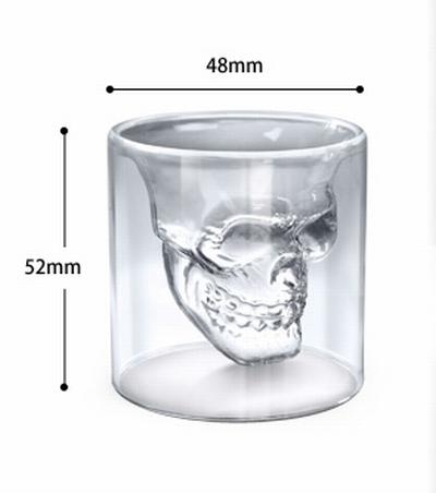 ヘッドショットスカルグラス スカル グラス 4個セット アメリカ雑貨屋 SUNBRIDGE アメリカ雑貨通販