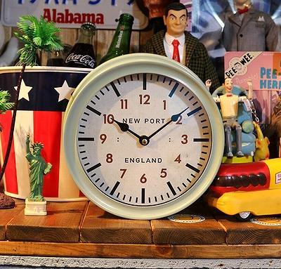 ステーションウォールクロック 壁掛け時計 置き時計 ウォールクロック アメリカ雑貨屋サンブリッヂ 岩手雑貨