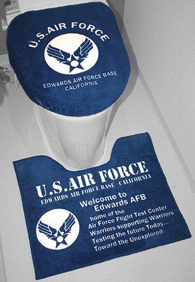 エアフォーストイレマット エアフォーストイレカバー AIRFORCEトイレ雑貨 アメリカ雑貨屋 サンブリッヂ