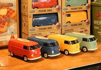 ワーゲンバスティッシュケース  ワーゲンバスティッシュボックス 1963年ワーゲンバス アメリカ雑貨屋 サンブリッヂ アメリカン雑貨通販